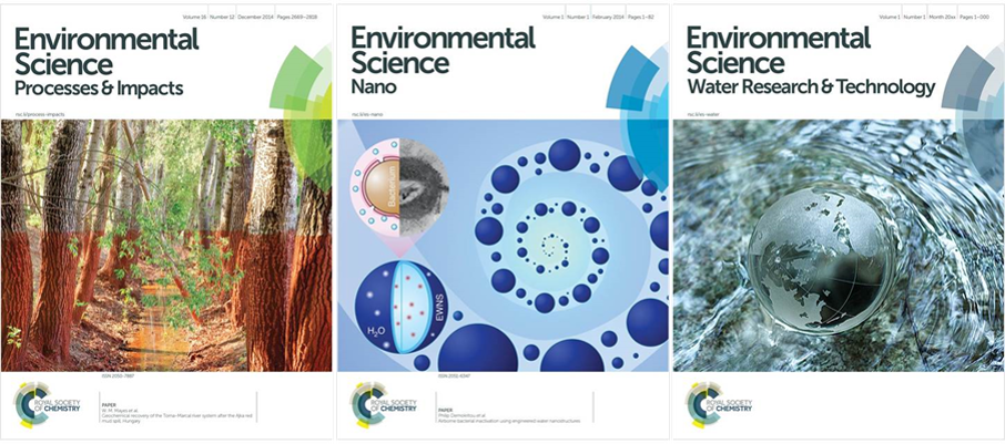 environmental science journals, ESPI, Environmental Science Processes & Impacts, ES Nano, Environmental Science Nano, ESWRT, Environmental Science Water Research & Technology