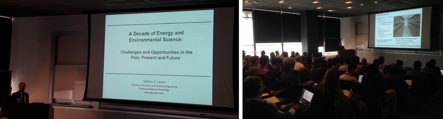 Nathan Lewis, EES: New Directions in Energy Research, EES Symposium, Royal Society of Chemistry, RSC