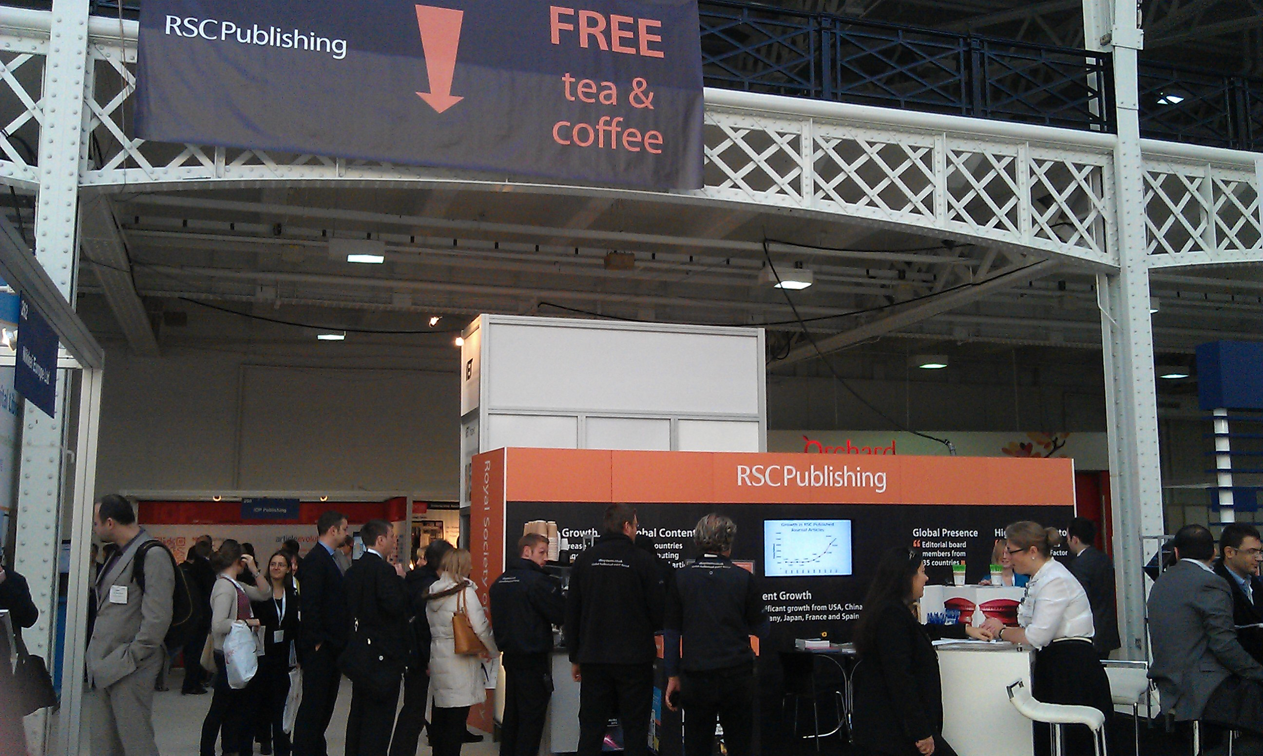 Online Information Stand free tea and coffee