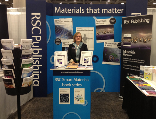 Liz Dunn at the RSC Publishing booth