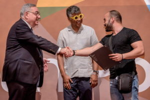 Charalampos Pronoitis receiving his certificate