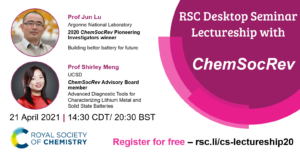 RSC Desktop Seminar Lectureship with ChemSocRev