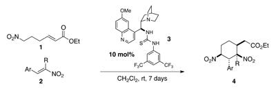 thiourea catalysed construction of nitrocyclohexanes