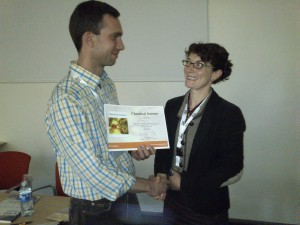 Nicolas Finck collects prize