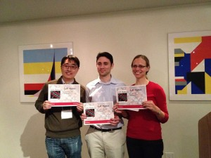 Photograph of the poster prize winners