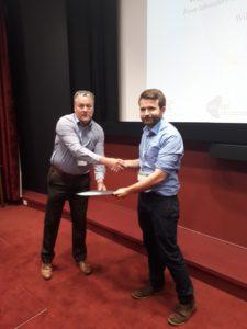Rory O'Neill receiving his award