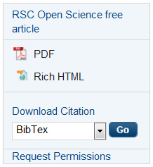 RSC Open Science on the RSC Publishing Platform